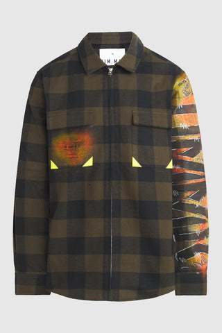 M!SCRE8 Graffiti Buffalo Plaid Overshirt #37