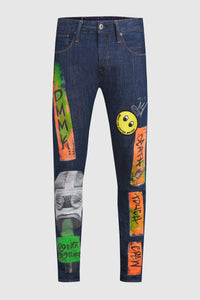 DMMK Gas Mask + Mickey Painted Jeans #42