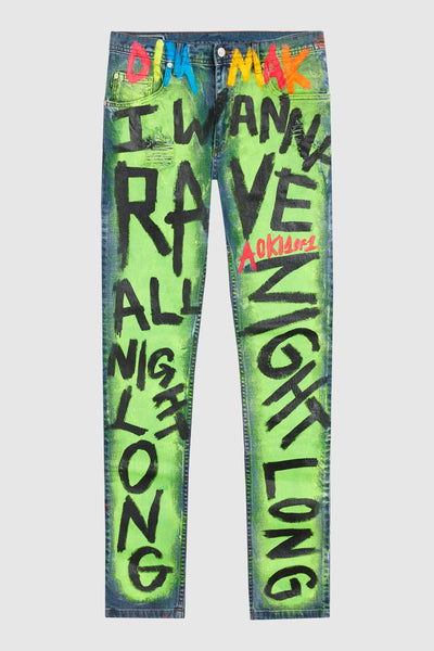DMMK I WANNA RAVE ALL NIGHT LONG JEANS #135