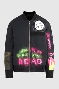 I'll Sleep When I'm Dead Bomber Jacket #106