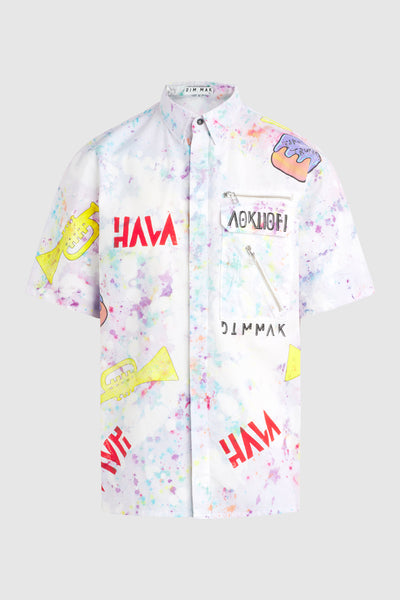 Splatter Hava Button Up (Size M) #90