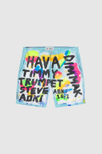 Hava Timmy Trumpet & Steve Aoki Painted Shorts #101