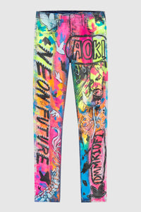 Neon Future Neon Painted Jeans #125 (archival)