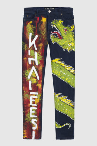 Khaleesi Painted Jeans #130