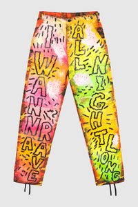 I Wanna Rave All Night Long Camo Pants #128