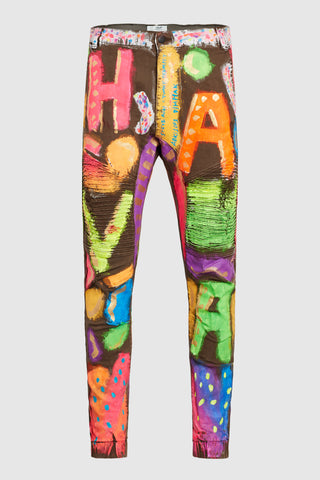 H-A-V-A NEON PAINTED MOTO-JEANS #70