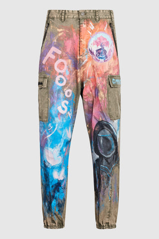 NEON FUTURE PAINTED CARGO JOGGERS #71