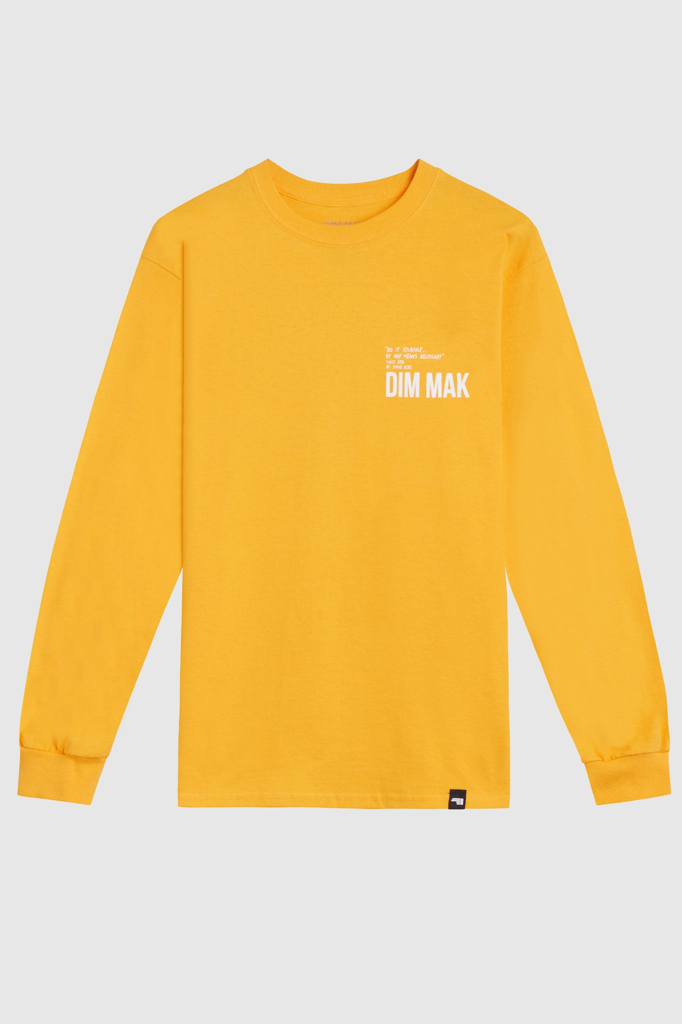 Dim Mak Essential 2.0 Long Sleeve Tee - Gold