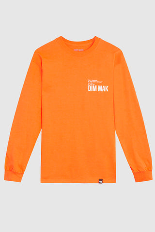 Dim Mak Essential 2.0 Long Sleeve Tee - Orange