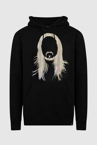 Neon Future IV - Steve Aoki Silver Holographic Foil Hoodie