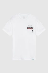 DIAMOND SUPPLY CO x DIM MAK - Death Touch Crew Tee - White