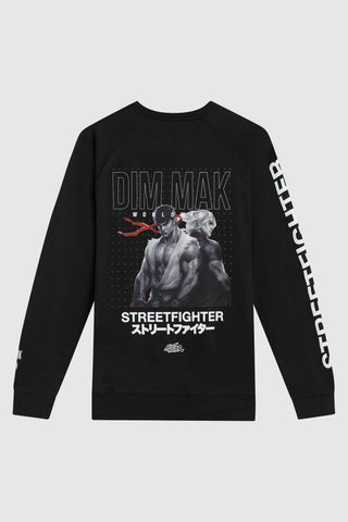 Dim Mak x Street Fighter Ken vs Ryu Crew Neck -  Black