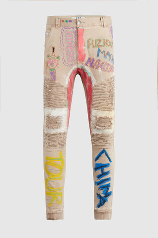 """China Tour"" - Hand Painted Jeans by Steve Aoki #3"