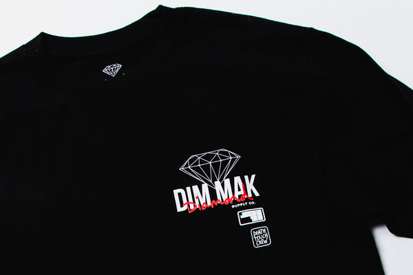 DIAMOND SUPPLY CO X DIM MAK - Death Touch Crew Tee - Black