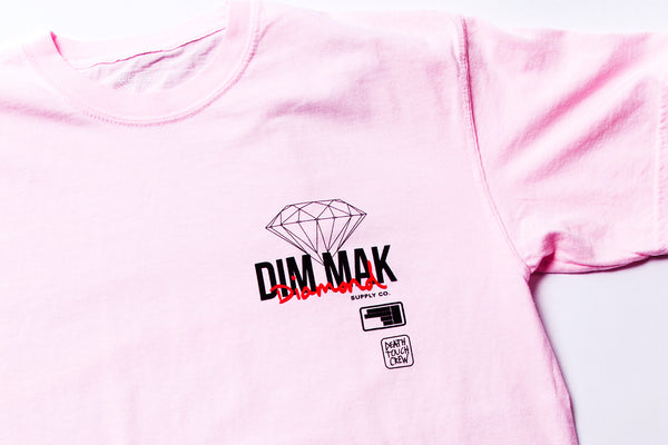 DIAMOND SUPPLY CO x DIM MAK - Death Touch Crew Tee - Pink