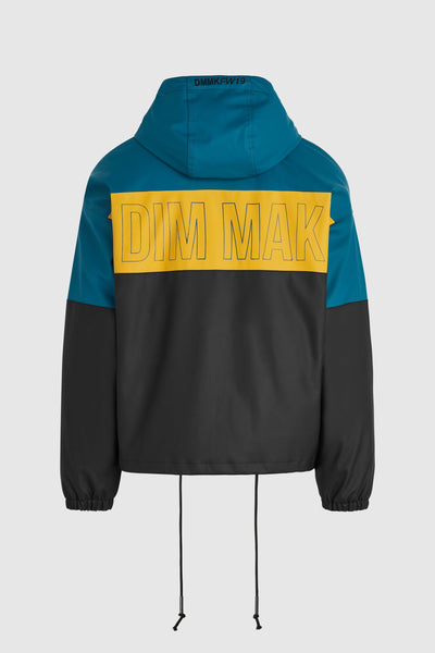 Rubber Jacket - Teal/Yellow/Black