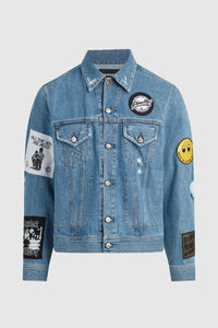 DMMK YOU'RE ALREADY DEAD CRASS PATCH DENIM JACKET #214
