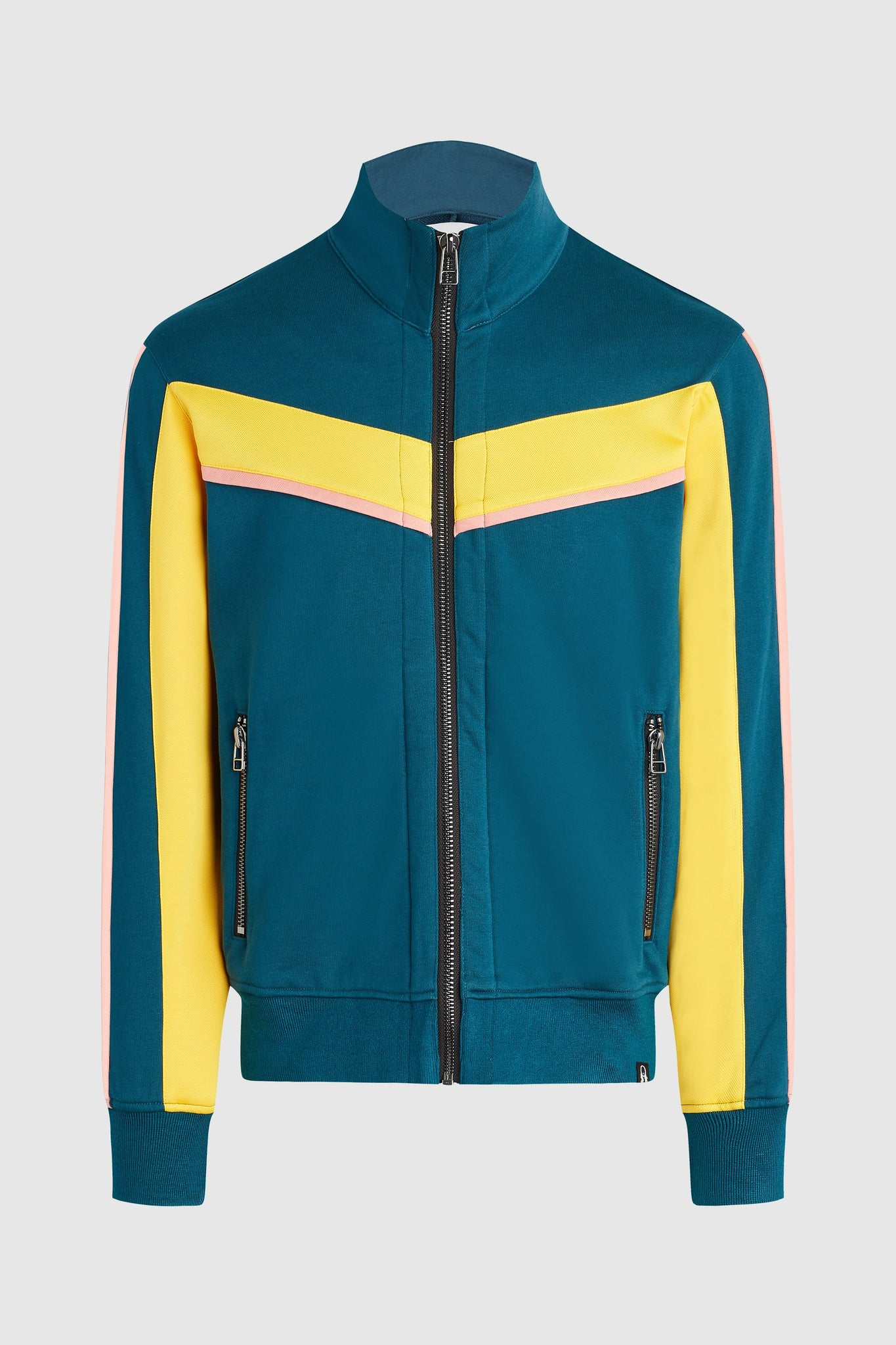 Nadya 2 Track Jacket - Teal/Yellow/Coral