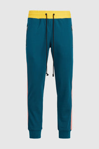 Nadya 2 Track Pants - Teal/Yellow/Coral