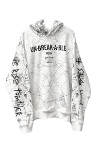 Dust of Gods x Aoki1of1: UNBREAKABLE Hoodie - Milan - White