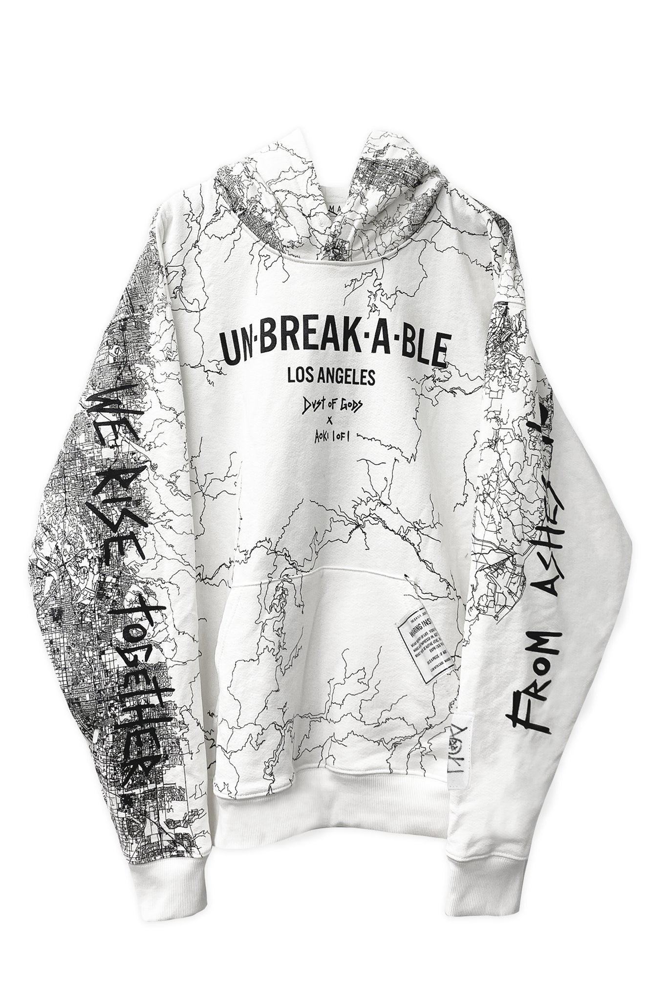 Dust of Gods x Aoki1of1: UNBREAKABLE Hoodie - Los Angeles - White