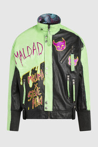 MALDAD PAINTED LEATHER JACKET #149