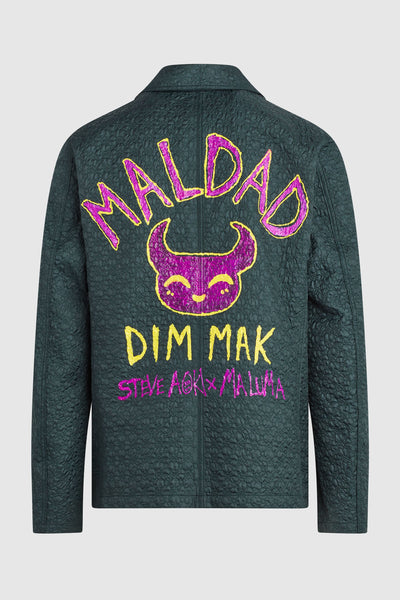 MALDAD STEVE AOKI X MALUMA PAINTED SNAP BUTTON UP JACKET #148