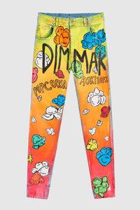 PAINTED DMMK POPCORN JEANS #181