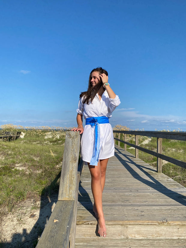 White Waverly Shirtdress (Lined)