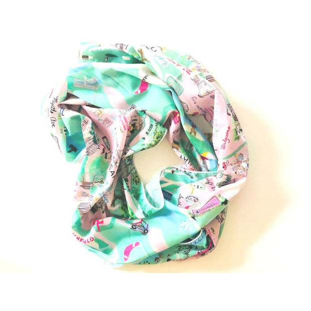 Pawleys Island Map Print Scarf