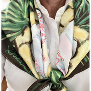Bamboo and Palms Scarf:  Pink, Chocolate, Cream or Aqua