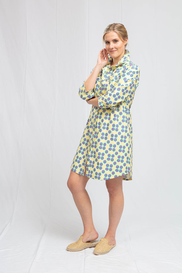 Waverly Sun Tile Shirt Dress