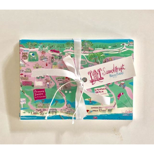 Pawleys Island Map Folded Notecards