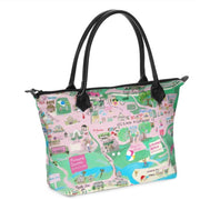 Pawleys Island Map Zippered Bag in Aqua or Pink