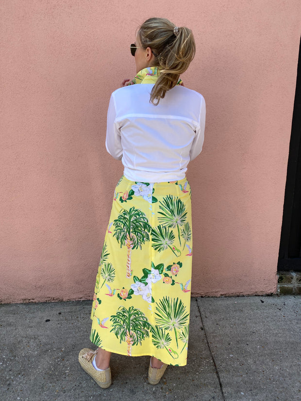 Yellow Tropical Skirt