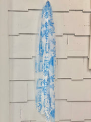 Pawleys Island Toile Scarf in Blue or Pink