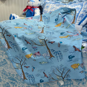 Baby Blanket in Mountain Toile