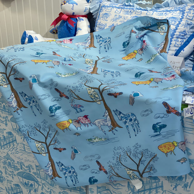 Baby Blanket in Low Country Animals