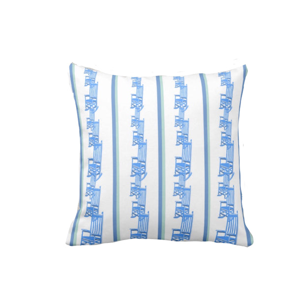 Rocker Stripe Cotton Pillow