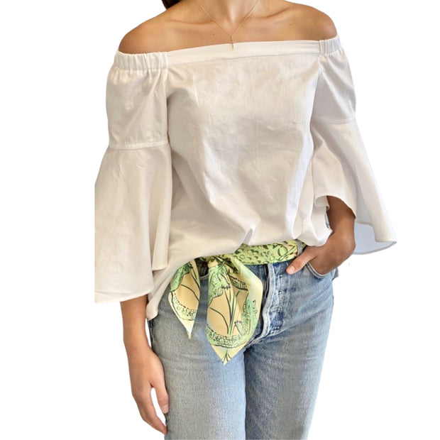 White Bell Sleeved Blouse