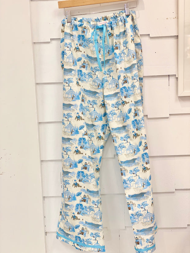 NEW! Loungewear Pajamas in Mountain Toile