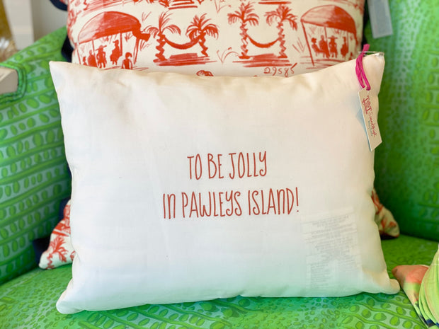 Christmas in Pawleys Cotton Pillow