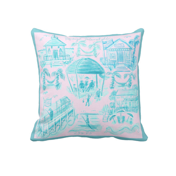 Pawleys Island Large Scale Toile Pillow