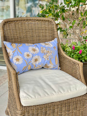 Daisies and Laurel Ourdoor Lumbar Pillow