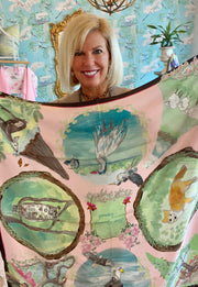 Luxe Silk Twill Scarf- Low Country Animals