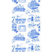 Sullivan's Island Toile Peel and Stick Wallpaper- Blue and White
