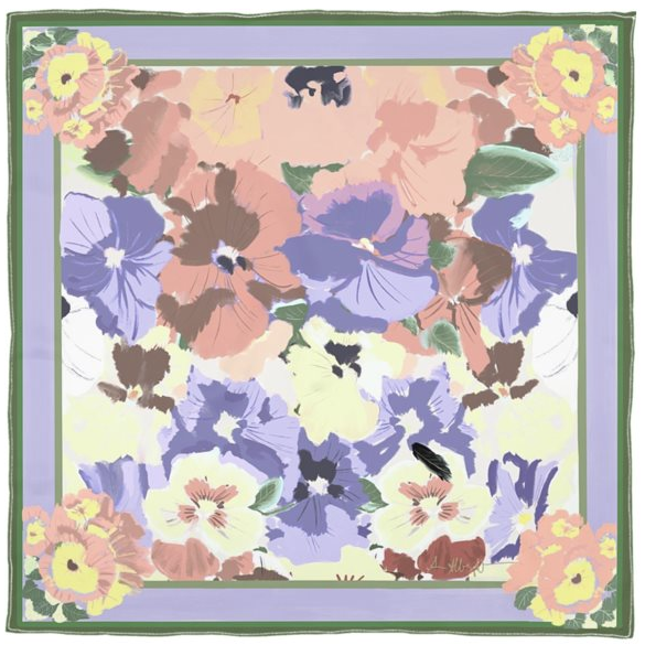 NEW! Antique Pansies Scarf
