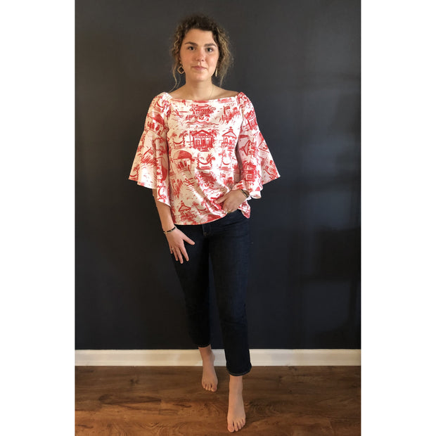 Toile Bell Sleeve Top