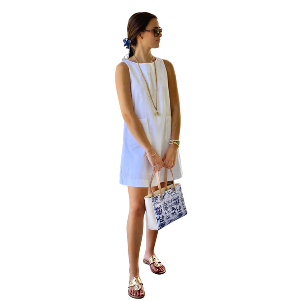 White Sea View Shift Dress