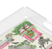 Small Brookgreen Gardens Toile Tray- Pink or Blue